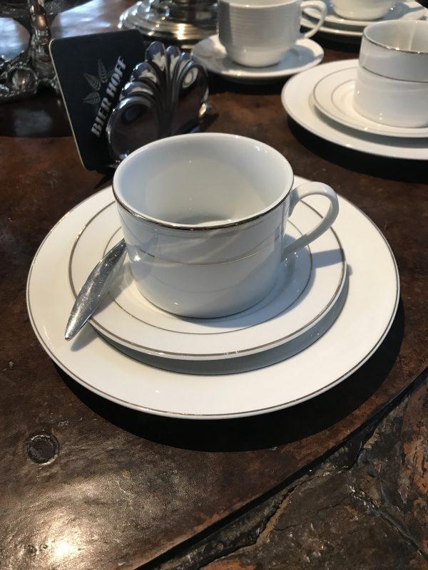 Conjunto de chá filete dourado